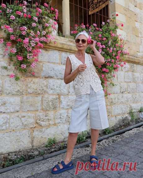 Какую вязаную одежду надеть летом, чтобы выглядеть не простовато, а стильно   До и после 50-ти   Яндекс Дзен