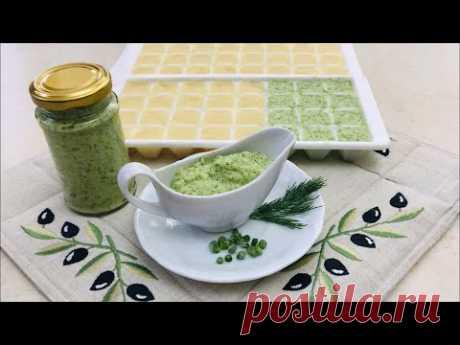 Замораживаю чеснок и делаю чесночную пасту с зеленью.