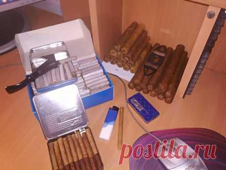Сигары , Сигариллы и самокрутки из домашнего табака .