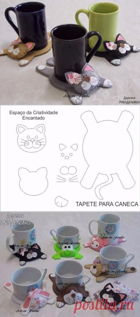 Забавные подставки под чашки в виде животных — Сделай сам, идеи для творчества - DIY Ideas