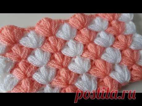 Легкая вязка для детского одеяла и волокна