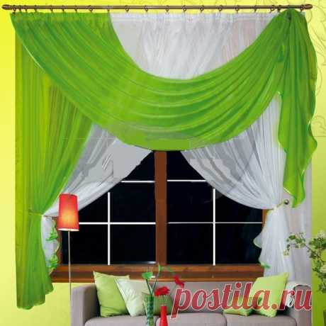 Curtains for kitchen - kinds of curtains, councils for the choice, a photo