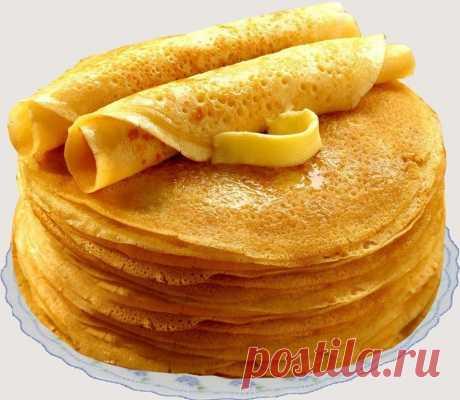 Блины «Безупречные». Получатся даже у новичков! Ингредиенты: кипяток — 1,5 стакана; молоко — 1,5 стакана; яйца — 2 штуки; мука — 1,5 стакана (тесто должно быть реже, чем на оладьи); сливочное масло — 1,5 столовые ложки; сахарный песок — 1,5 столовые ложки; соль — 0,5 чайной ложки; ваниль. Взбейте яйца с сахаром, добавьте соль и ваниль. Далее взбивая смесь, добавляем молоко и постепенно всыпаем муку. Не переставая взбивать, вливаем растопленное сливочное масло, а затем кипя...