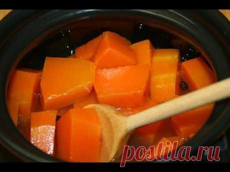 """La calabaza marinada """"Эстонский ананас"""". Los platos sabrosos de la calabaza para el invierno"""