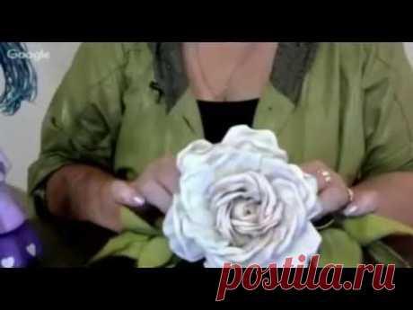 Шикарная роза из фоамирана - YouTube
