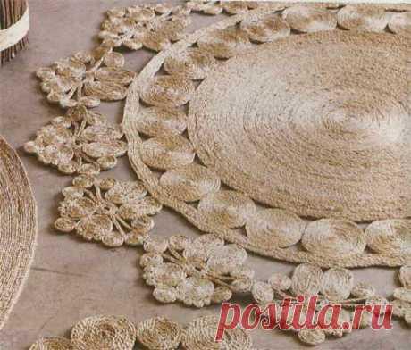Самодельные коврики из джута или сизаля
