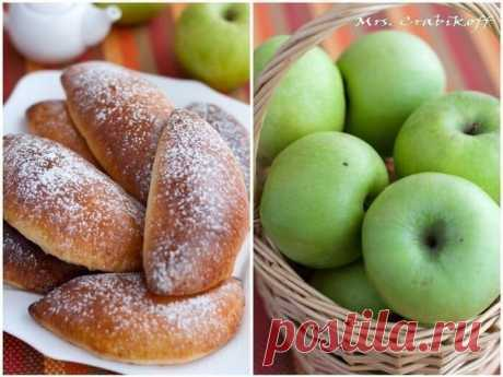 Обалденные Яблочные пирожки  Пышные и румяные, мои любимые пирожки с яблоками. Мягкое творожное тесто и сочная яблочная начинка, идеальный вариант для домашнего чаепития!  Нужно:  Для теста: 300 гр муки 125 гр творога 100 гр сахара 100 мл молока 75 мл растительного масла 1 пакетик разрыхлителя (10 гр Dr. Oetker) ванилин 1/4 ч. ложки соли  Для начинки: 4 средних яблока 1 ст. ложка сахара 1 ст. ложка сливочного масла  Готовим :  1. Приготовить начинку. В сковороде распустить...