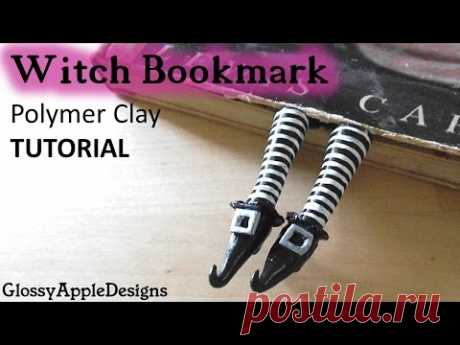 Polymer Clay Witch Shoes/Feet Bookmark TUTORIAL | Maive Ferrando