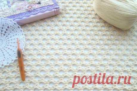 Вязание-крючок-Рисунки и схемы >Нежный узор сеточка