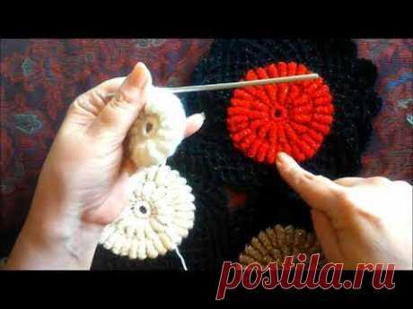 Вязание оригинального мотива с помощью коктейльной трубочки - YouTube