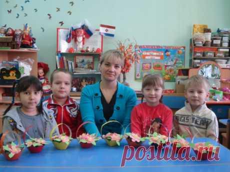 Мастер-класс «Корзинка для мамы» (подарок на 8 Марта) - Для воспитателей детских садов - Маам.ру
