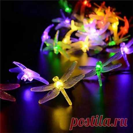 Гирлянда со стрекозками Какая красота! - скажут вам гости на вашей даче Красиво, романтично, замечательно!  Светодиодный светильник на солнечной батарее  https://s.click.aliexpress.com/e/KjaGznq0?product_id=..