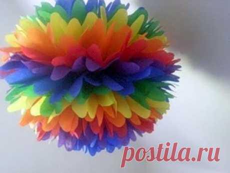 Бумажные цветы - мастер-класс - Домашний hand-made