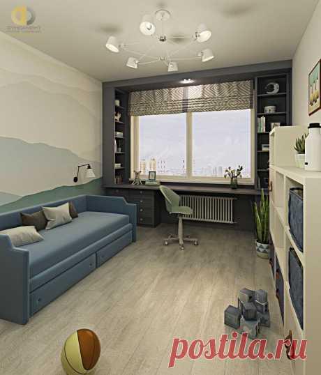 Дизайн интерьера трёхкомнатной квартиры 98 кв.м в стиле современная классика