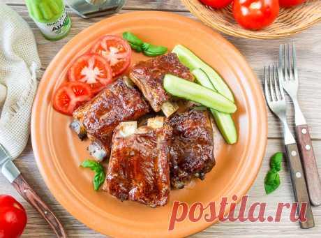 Запеченные ребрышки в кисло-сладкой глазури - вкусные проверенные рецепты, подбор рецептов по продуктам, консультации шеф-повара, пошаговые фото, списки покупок на VkusnyBlog.Ru