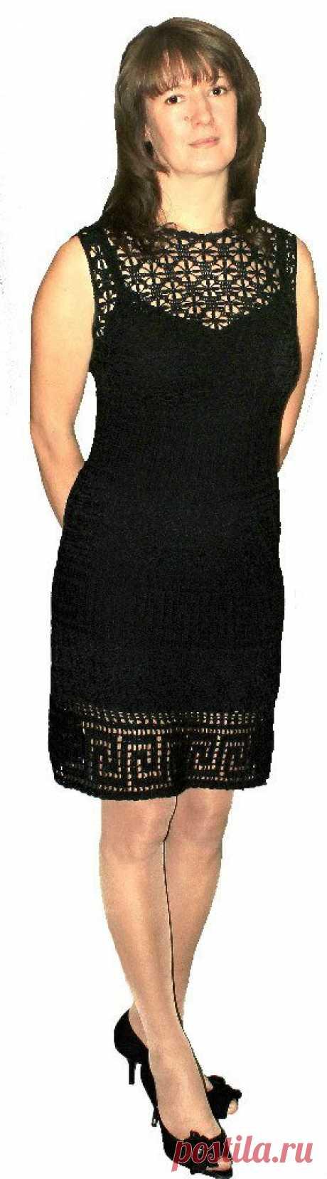 Маленькое черное платье крючком, схема узора   Олишна из третьего подъезда   Яндекс Дзен