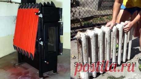 Самодельная печь из радиатора отопления (38 фото+описание изготовления)
