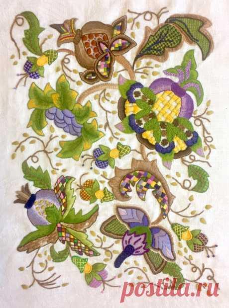 Якобинская вышивка - простые советы для красивой работы...