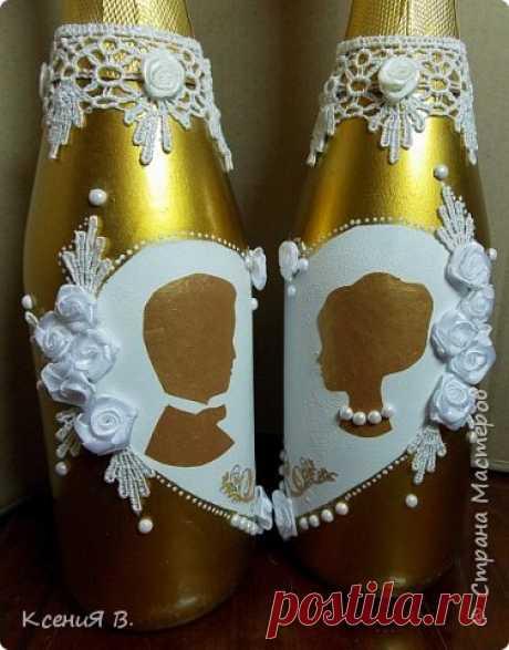 Свадебные бутылки | Страна Мастеров