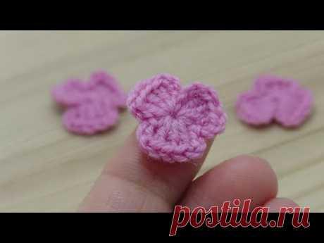 Мастер-класс вязаный крючком маленький ЦВЕТОЧЕК  Crochet flowers