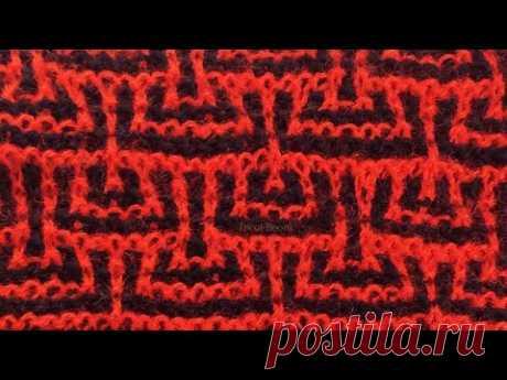 Красное и черное / Вязание спицами. - YouTube