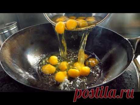 жареный рис с яйцом - корейская уличная еда