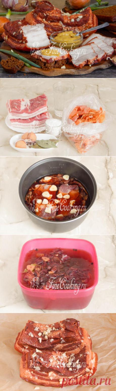 Грудинка в луковой шелухе - рецепт с фото