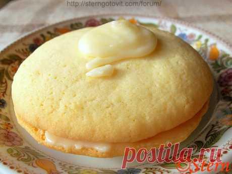 Печенье лимонное с глазурью