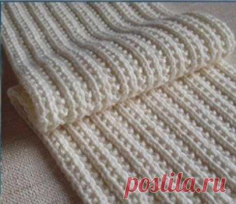 Фигурная резинка спицами - пригодится тем, кто часто вяжем шарфики