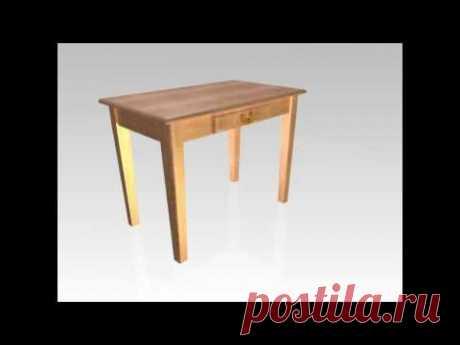 Стол кухонный из дерева - YouTube