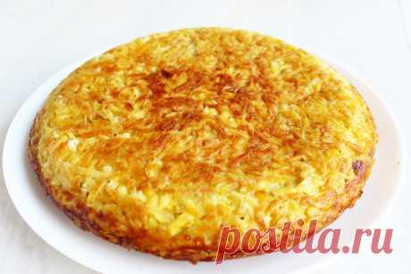 Картофельный пирог с шампиньонами. Готовится на сковороде и никакой возни с тестом | Дилетант на кухне. | Яндекс Дзен