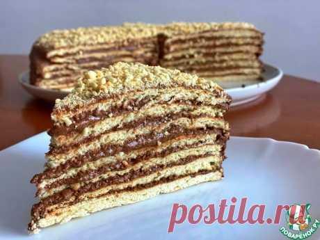 Торт «Микадо» с шоколадно-арахисовым кремом Кулинарный рецепт