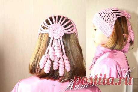 интересные повязки для девочки со спиральками_мастер класс.