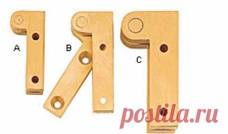 Brusso® Double Offset Knife Hinges - Lee Valley Tools Шарниры для ножей Brusso® Double Off . Для петель с двойным смещением точка поворота находится снаружи шкафа и двери. Это позволяет дверцам открываться на 270 ° для применений, в которых необходимо, чтобы двери складывались плоско по бокам шкафа. Как правило, толщина двери должна быть как минимум на 1/8 дюйма больше, чем смещение петли. Приведенные размеры - это смещение (и ширина л