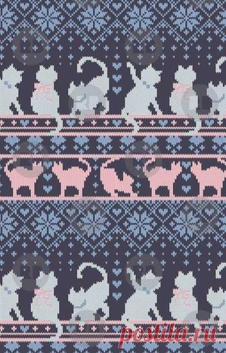 А вы любите кошек?!   Подбор похожей схемы к джемперу  Но по-моему мнению, схема в разы интереснее, чем оригинальный рисунок на модели.