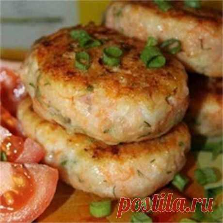 Fish cutlets with carrots