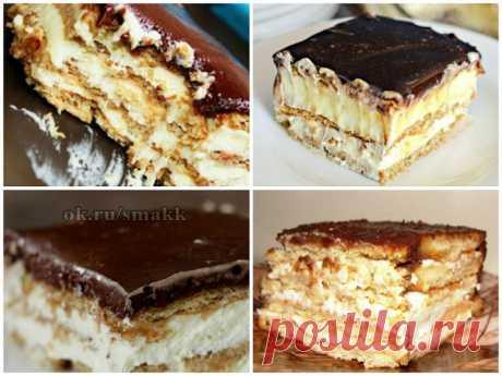 Вкуснющий торт-эклер без выпечки: этот десерт вскружит голову любому! Невероятный торт-эклер из печенья, который даже не нужно печь. С таким рецептом справится любой.  Рецепт вкусняшки ⇨https://povaroc.blogspot.com/2018/04/tort-jekler.html