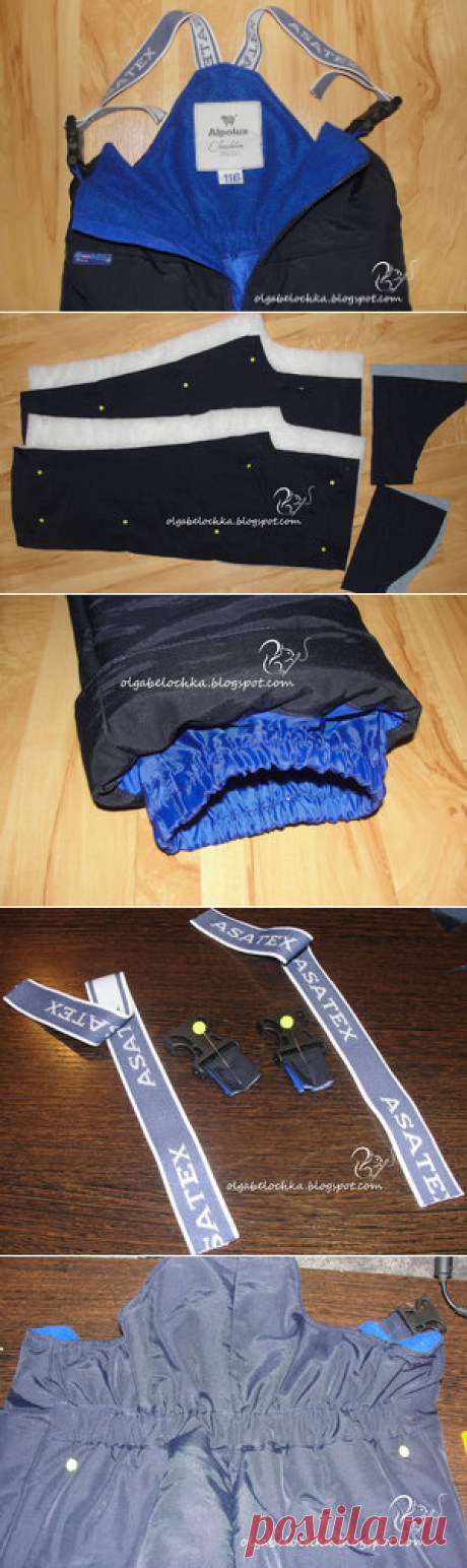 Belochkina of the fairy tale: MK the warmed semi-overalls