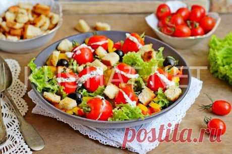 Греческий салат с фаршированными помидорами. Рецепт с фото • Кушать нет