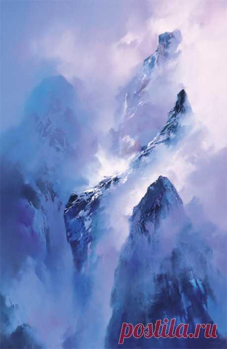 (4) Вечернее...Художник Hong Leung - завораживающие пейзажи Китая - Отраженье ясных звезд в темной воде...(БГ) — ЖЖ