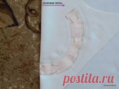 Обработка горловины подкройной прямой обтачкой. Обработка застежки втачной планкой | Blogremaking блог о шитье