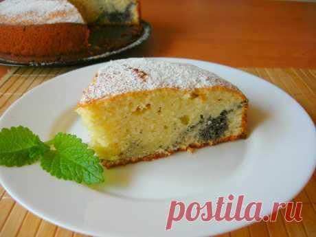 Простой пирог на кефире с маковой начинкой — Кулинарная книга - рецепты с фото