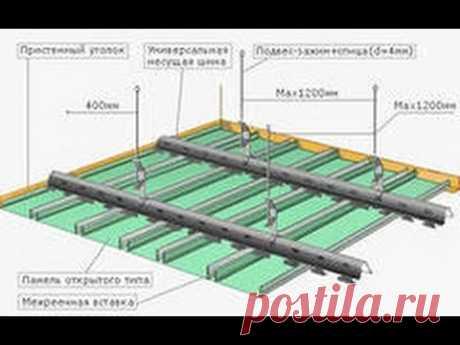 Реечный потолок в квартире своими руками: конструкция и установка — Самострой