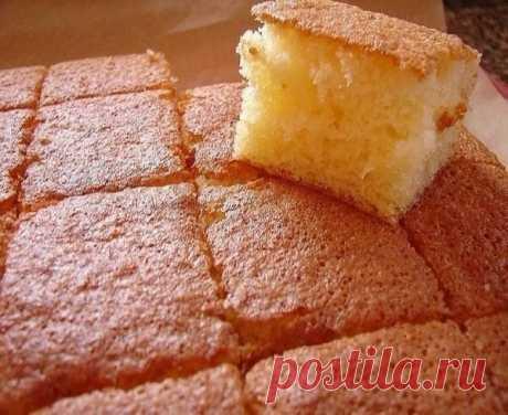 Очень простой в приготовлении бисквит