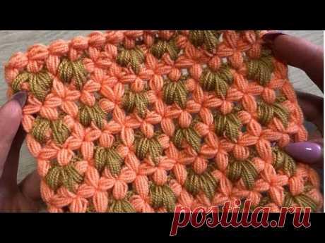 ВЯЖЕМ ПЛЕД КРЮЧКОМ 🔥Красивый цветочный узор🌸.Crochet blanket.