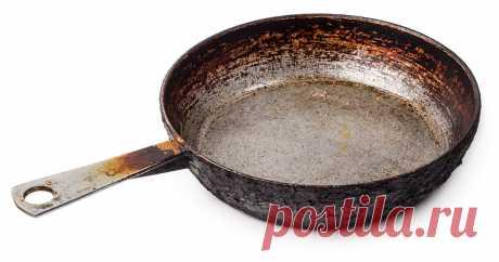 Как реанимировать ржавую сковороду