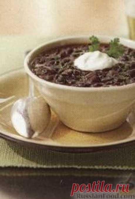 Рецепт: Фасолевый суп, приготовленный в медленноварке на RussianFood.com