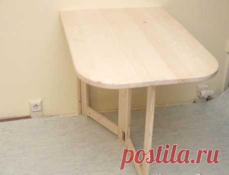 Сделайте практичный складной столик для маленькой квартиры Сделайте практичный складной столик для маленькой квартиры.        Может пригодиться везде, где мало места для большого стола. Можно на нем есть и шить и гладить. В случае необходимости его можно быст…