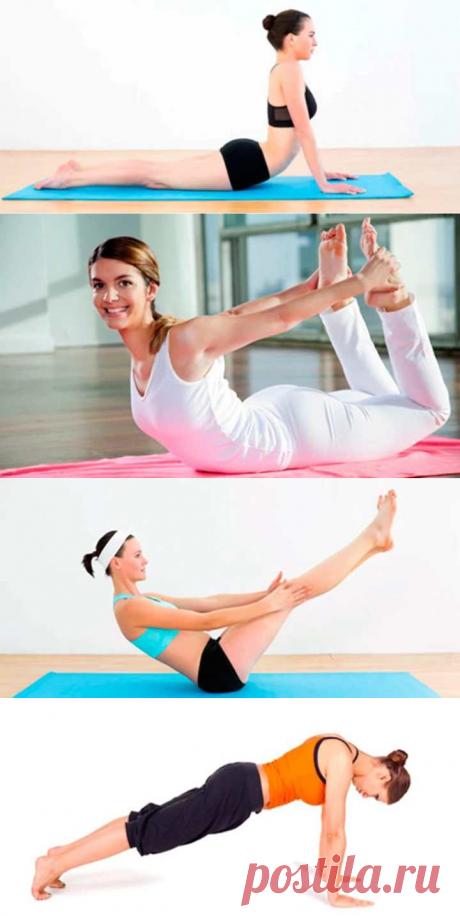 5 poses simples de los yoga, que ayudarán librarse de la grasa en el vientre