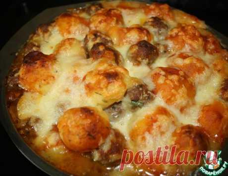 Запеканка из картофельных и мясных фрикаделек – кулинарный рецепт